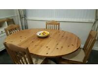 Dining table and 6 chairs and matching sideboard
