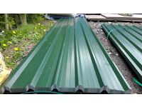 brand new 14ft long juniper green polyester coated box profile roofing sheets 32/1000
