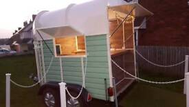Horse trailer conversions mobile bar catering trailer.