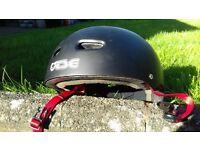 Bicycle skater helmet tsg 54 to 56 cm black