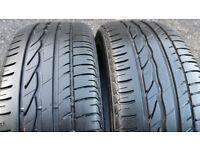 225 45 17 2 x tyres Bridgestone Turanza ER300