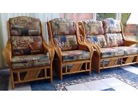 3 piece wooden furniture suite in excellent condition!