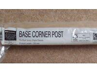 B&Q kitchen base unit corner post - ivory - 720mm