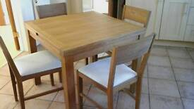 Laura Ashley Brompton oak flip top table and 4 chairs.
