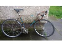 Vintage 1963 Road Bike - Dawes Debonair Racer - Single Speed - 58cm Frame