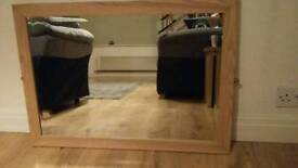 Oak effect mirror