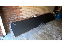 FREE two 3m length black flecked laminate kitchen worktops. Unused.