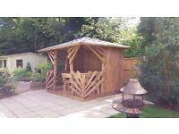Solid wood gazebos summer houses sheds