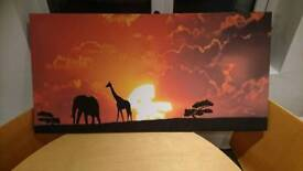 African sunset canvas print/painting