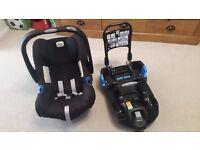 Britax baby safe plus II car seat & seat base