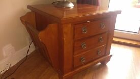 Solid wood, 2 drawer lounge cabinet