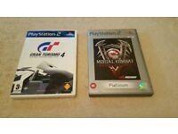 Playstation 2 Games - Gran Turismo 4 & Mortal Kombat