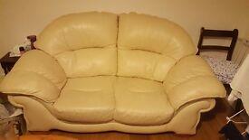 2 cream sofas £50