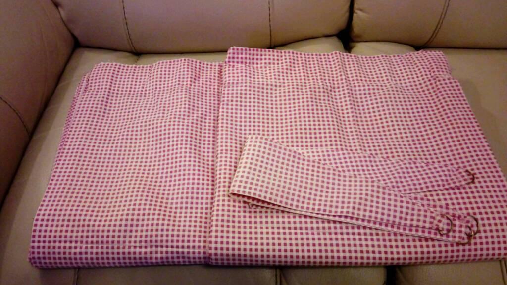 Kids Pink & White Curtains