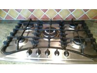 5 Burner Stainless Steel Gas Hob with Cast Iron Pan Supports
