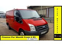 Finance- £85 P/ M-Ford Transit Low Roof Van 2.2 300-85k-1 Owner-FSH 10 Stamps-1YR MOT- Warranty 280