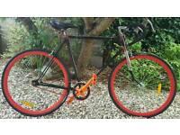 Single speed fixie vintage road bike