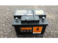 Halfords car battery - used for 5 days