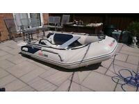 INFLATABLE DINGHY HONWAVE T27 2.7M AND YAMAHA 6HP OUTBOARD MOTOR DINGY TENDER RIB SIB BOAT