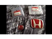 BRAND NEW!! Honda Red H badges for ep2/ep3