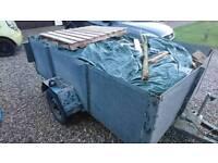 8X5 ft Galvanised Horsebox trailer