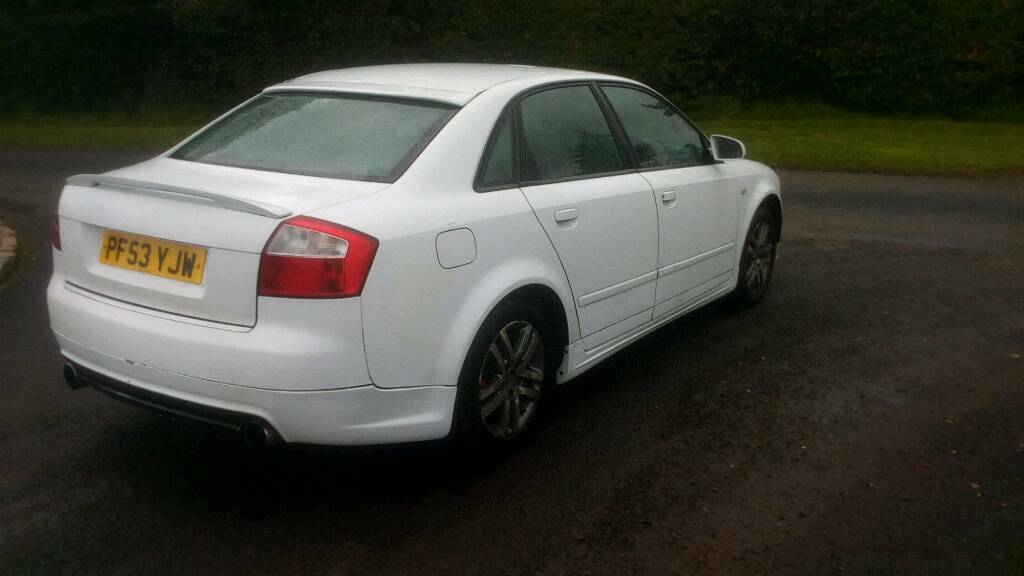 2004 AUDI A4 1.9 130 BHP 6 SPEED (RESPRAYED WHITE) MOT'D TO MATCH 18.....FOR PARTS OR REPAIR,A3,320D