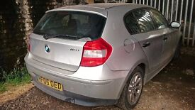 BMW 1 SERIES, Silver colour, Manual, petrol, year 2005 quick sale