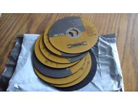10 x 4 1/2 inch metal cutting discs for an angle grinder