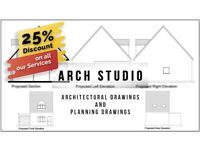 25% Discount on our architectural Services/ Start from £295/Structural Engineer/Drawings/ plan