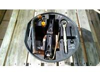 Citroen Spare Wheel Jack And Holder With Tools