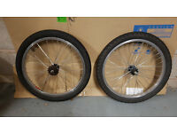 Pair of BMX wheels in good condition