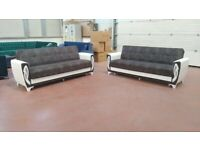 💥SALE !!BIG SALE!! BRAND NEW TURKISH SOFA BEDS WITH LARGE STORAGE IN STOCK