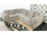 New/Ex display dfs jumbo cord corner+3 seater sofa*Free delivery
