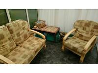 Conservatory furniture - 2 chairs & a 2-seater