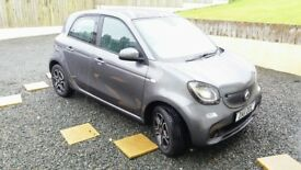 SMART FORFOUR PRIME PREMIUM 900cc AUTOMATIC 2017 TOP OF THE RANGE ,PANROOF,HEATED LEATHER,SATNAV.