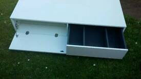 Gloss white TV cabinet
