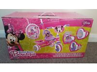 Brand new Pink disney minnie mouse kids tricycle / bike cycle baby girl