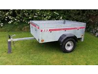 "Caddy 535 Car Box Trailer Camping, 150cm x 110cm, 5' X 3' 7"", Capacity 500kg"