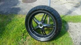 Triumph sprint ST rear wheel.