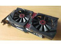 ASUS Radeon R9 285 STRIX 2GB GDDR5 OC Edition + Original Box + Driver Disc
