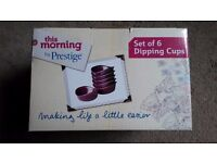 Brand new 'This Morning by Prestige' set of 6 dipping cups in purple