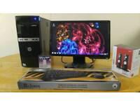 Save 25 - HP 500B Home & Business PC Desktop Computer & Benq 19 Monitor Widescreen