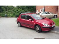PEUGEOT 307,M.O.T. 1.4 PETROL ENGINE EXCELLENT BODY WORK