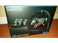 Logitech G29 Steering Wheel Pedals and Shifter
