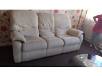 Free sofa need gone ASAP 3 seater And 1 chair few marks but good condition
