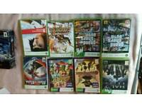 xbox console (no hard drive) xbox 360 games + head set
