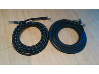 2 x 10ft/3m guitar leads (Fender FG10BSL & Roland RIC-B10A)