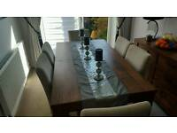 Dining room furniture table 6 chairs sideboard coffee table nest of tables