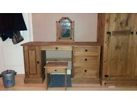 Corona mexican pine 3 piece bedroom set