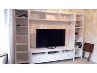 Ikea Hemnes White TV Unit and Bookcases